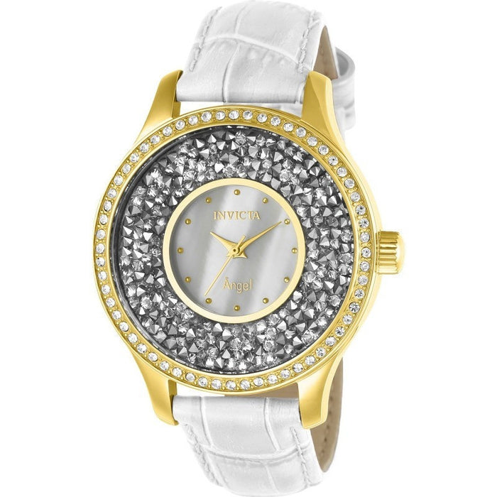 Invicta Women's 24589 Angel Quartz 3 Hand White Dial Watch