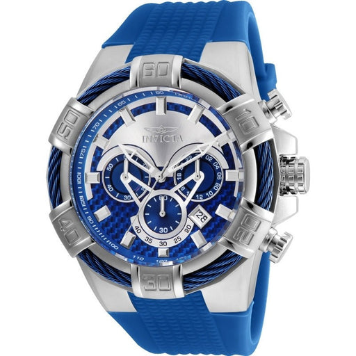 Invicta Men's 24696 Bolt Quartz Multifunction Silver, Blue Dial Watch