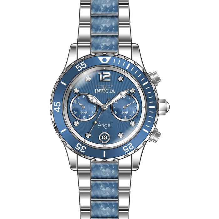 Invicta Women's 24704 Angel Quartz Multifunction Light Blue Dial Watch