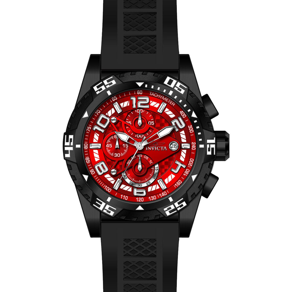 Invicta Men's 24715 Pro Diver Quartz Multifunction Red Dial Watch