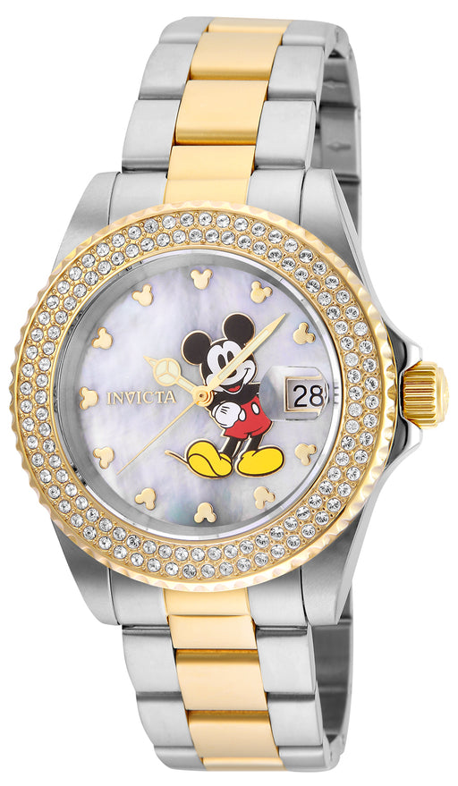 Invicta Women's 24752 Disney  Quartz 3 Hand White Dial Watch