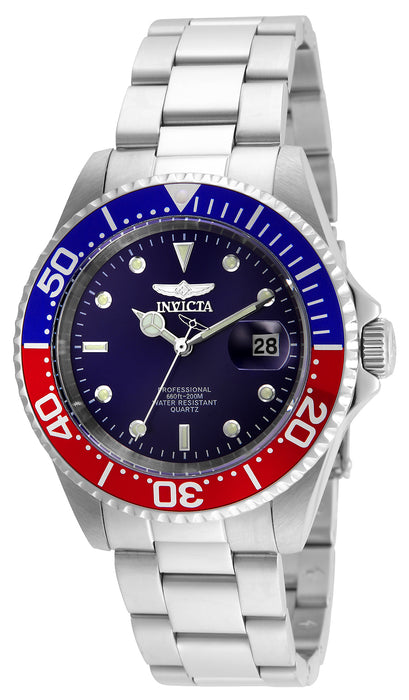 Invicta Men's 24946 Pro Diver Quartz 3 Hand Blue Dial Watch