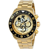 Invicta Men's 24955 Disney Quartz Chronograph Gold Dial Watch