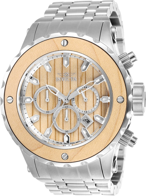 Invicta Men's 25072 Subaqua Quartz Chronograph Blonde Wood Dial Watch