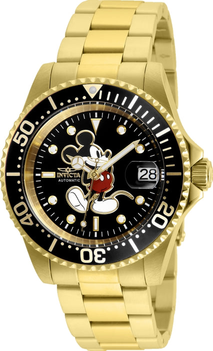 Invicta Men's 25107 Disney  Automatic 3 Hand Black Dial Watch