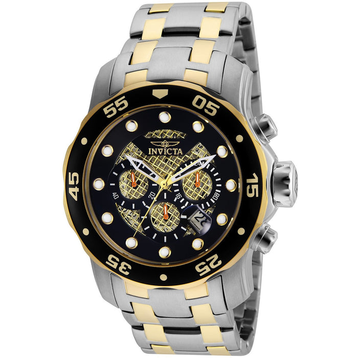 Invicta Men's 25333 Pro Diver Quartz Chronograph Black Dial Watch