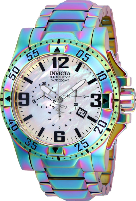 Invicta Men's 25362 Reserve Quartz 3 Hand White Dial Watch