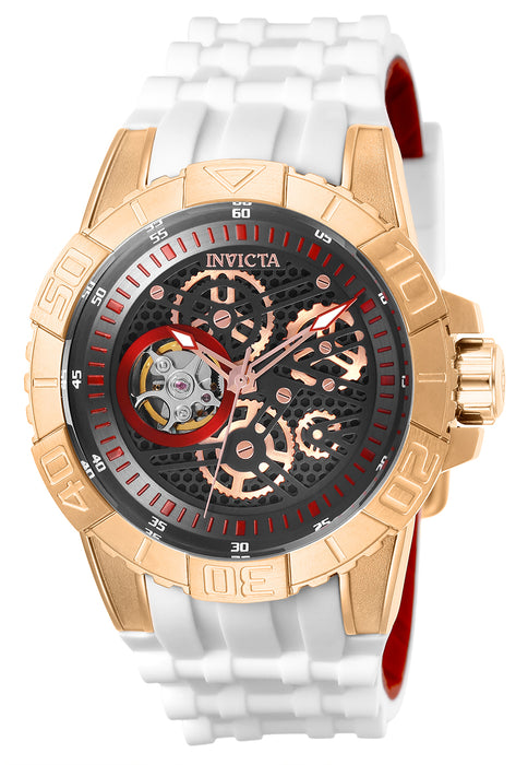 Invicta Men's 25412 Pro Diver Automatic Multifunction Black, Rose Gold Dial Watch