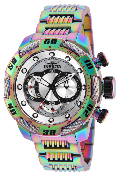 Invicta Men's 25485 Speedway Quartz Multifunction Platinum Dial Watch