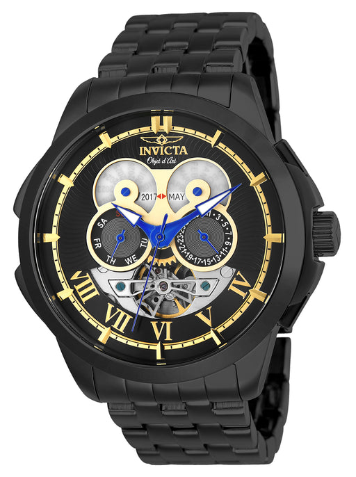 Invicta Men's 25582 Objet D Art Automatic 3 Hand Black Dial Watch