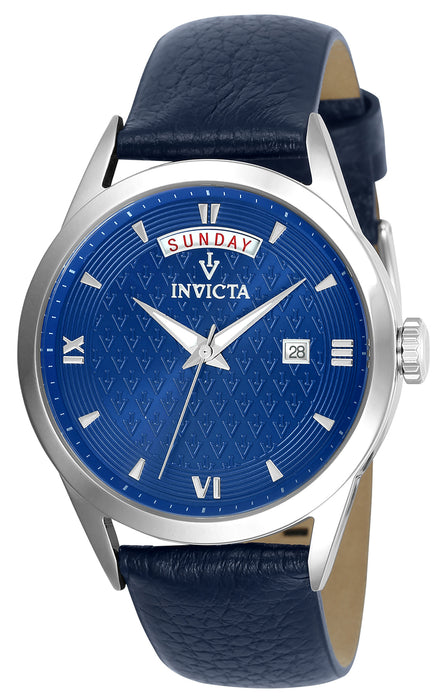 Invicta Women's 25712 Vintage Quartz 3 Hand Blue Dial Watch