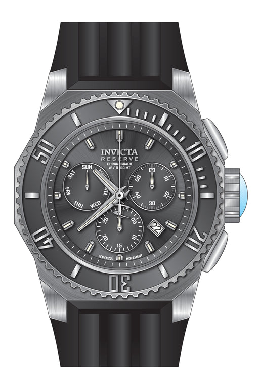 Invicta Men's 25729 Russian Diver Quartz Chronograph Gunmetal Dial Watch