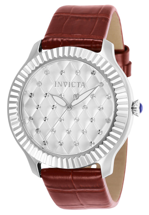 Invicta Women's 25743 Angel Quartz 3 Hand Silver Dial Watch