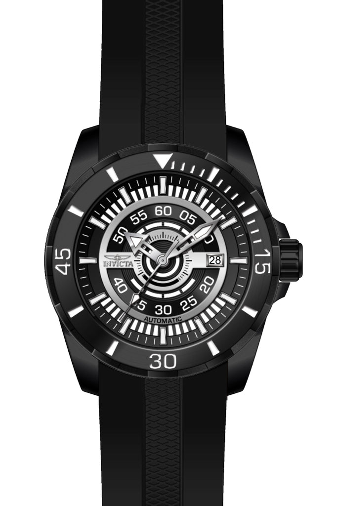 Invicta Men's 25774 S1 Rally Automatic 3 Hand Black Dial Watch