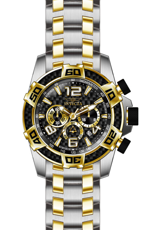 Invicta Men's 25856 Pro Diver Quartz Chronograph Black Dial Watch