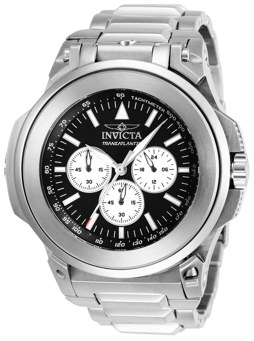 Invicta Men's 25923 Reserve Quartz Chronograph Black, Silver Dial Watch
