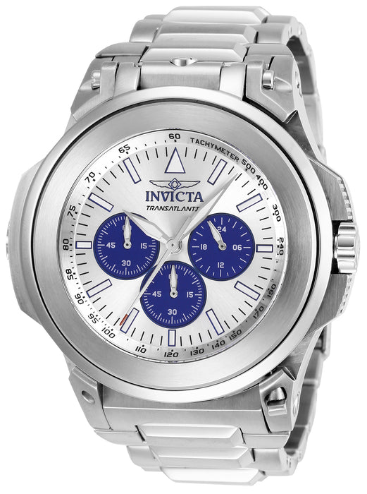 Invicta Men's 25924 Reserve Quartz Chronograph Silver, Blue Dial Watch