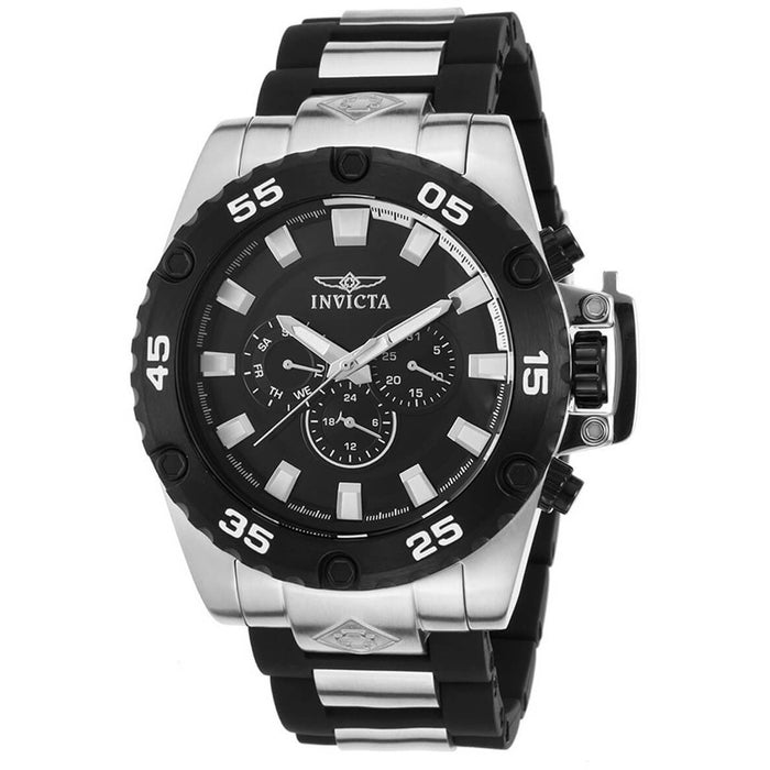 Invicta 21779 Men's Corduba Multi-Function Black Polyurethane Watch