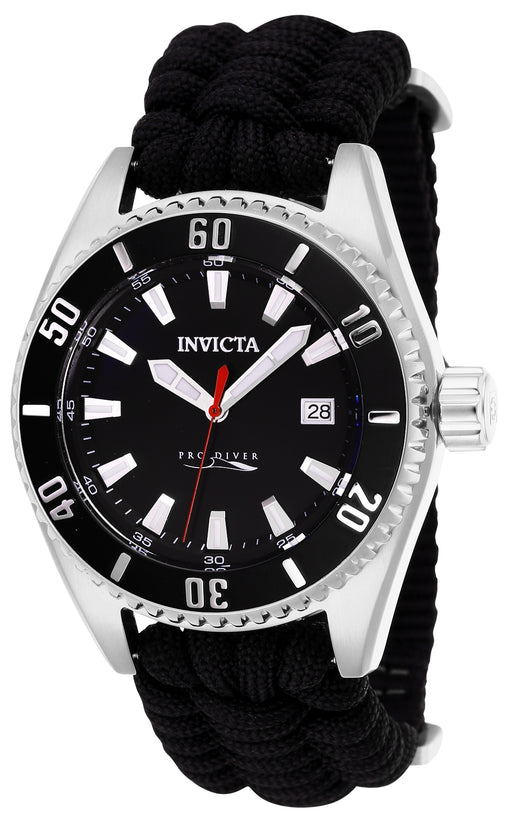 Invicta Men's 26024 Pro Diver Automatic 3 Hand Black Dial Watch