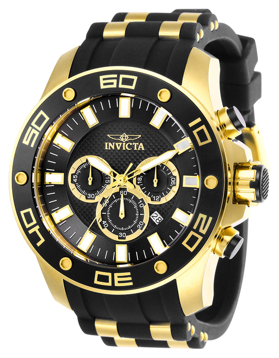 Invicta Men's 26086 Pro Diver Quartz Chronograph Black Dial Watch