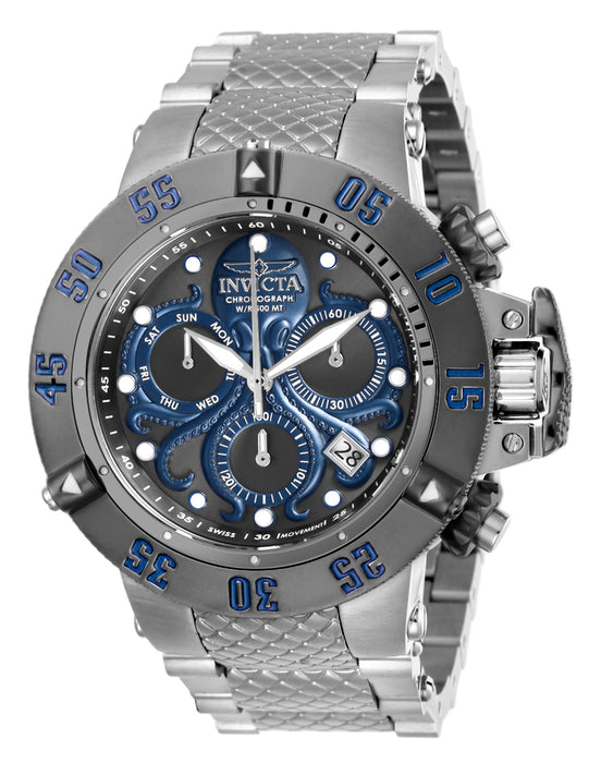 Invicta Men's 26133 Subaqua Quartz Chronograph Gunmetal, Blue Dial Watch