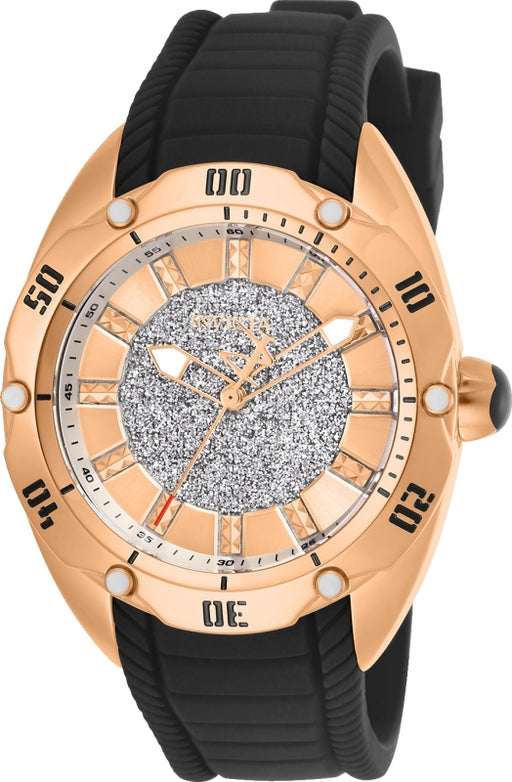 Invicta Women's 26146 Venom Quartz 3 Hand Rose Gold Dial Watch