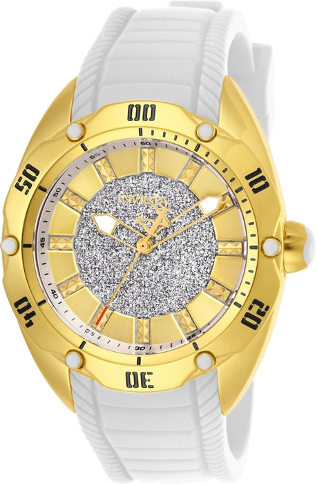 Invicta Women's 26147 Venom Quartz 3 Hand Gold Dial Watch