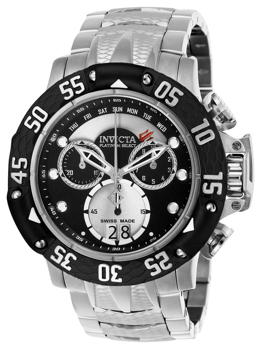 Invicta Men's 26210 Subaqua Quartz Chronograph Silver, Black Dial Watch