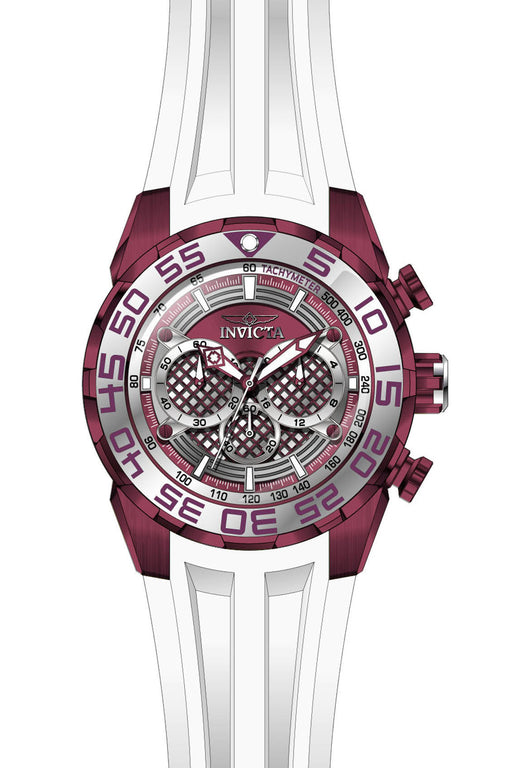 Invicta Men's 26312 Speedway Quartz Multifunction Purple, Silver Dial Watch