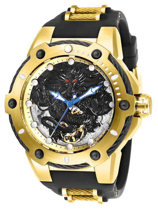 Invicta  Men's 26315 Bolt Mechanical 3 Hand Gold, Black Dial Watch