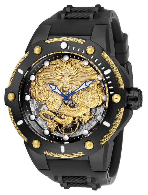 Invicta  Men's 26316 Bolt Mechanical 3 Hand Gold, Black Dial Watch