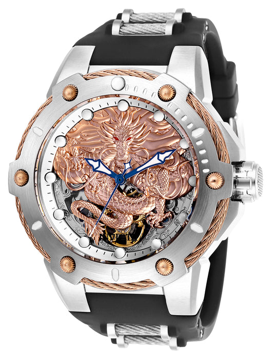 Invicta  Men's 26317 Bolt Mechanical 3 Hand Rose Gold, Silver Dial Watch
