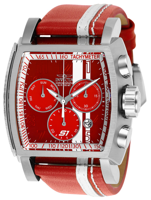 Invicta Men's 26393 S1 Rally Quartz Chronograph Red, White Dial Watch