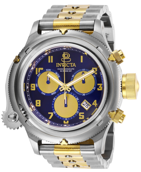 Invicta Men's 26461 Russian Diver Quartz Chronograph Blue, Gold Dial Watch