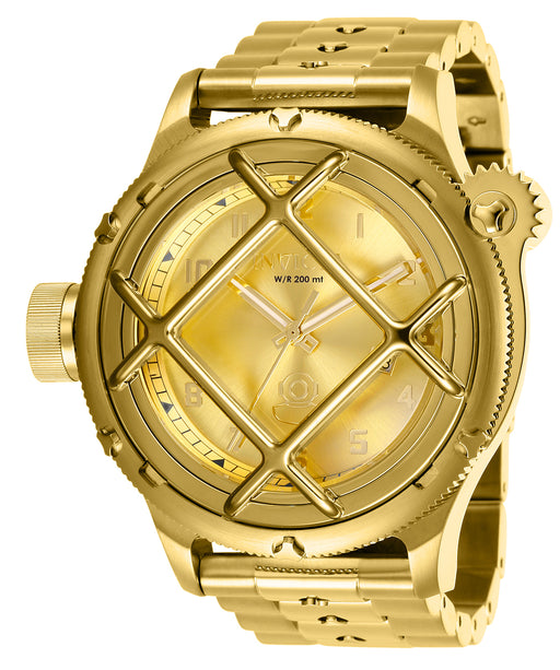 Invicta Men's 26466 Russian Diver Quartz 3 Hand Gold Dial  Watch