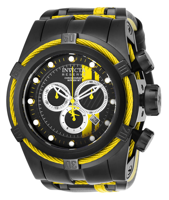 Invicta Men's 26472 Reserve Quartz Chronograph Black, Yellow, Silver Dial Watch