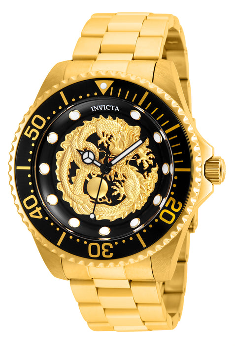 Invicta Men's 26490 Pro Diver Automatic 3 Hand Black Dial Watch