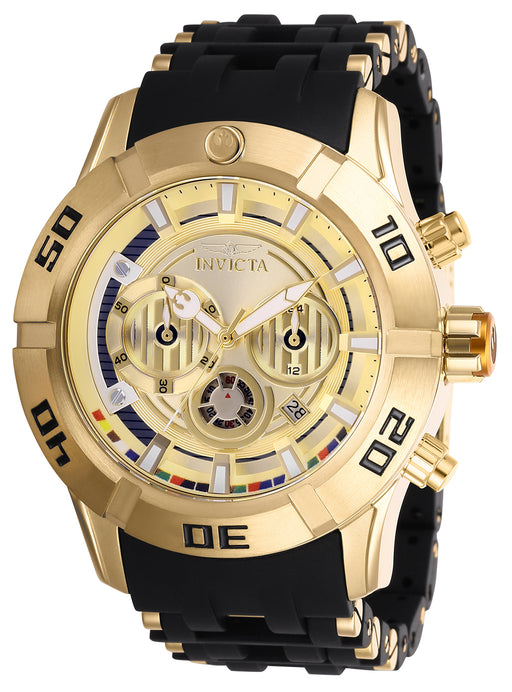 Invicta Men's 26549 Star Wars Quartz Multifunction Gold Dial Watch