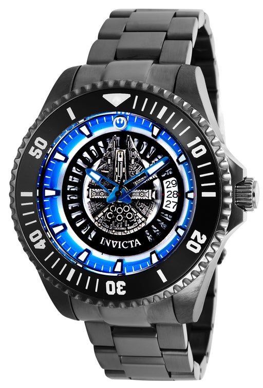 Invicta Men's 26559 Star Wars Automatic Multifunction Blue, Grey Dial Watch