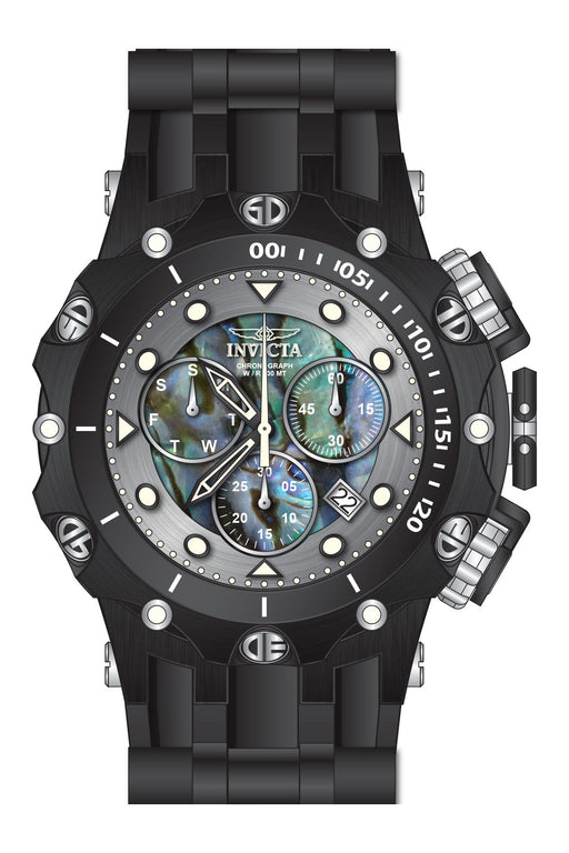 Invicta  Men's 26591 Venom Quartz Chronograph Blue, Green, Silver Dial Watch