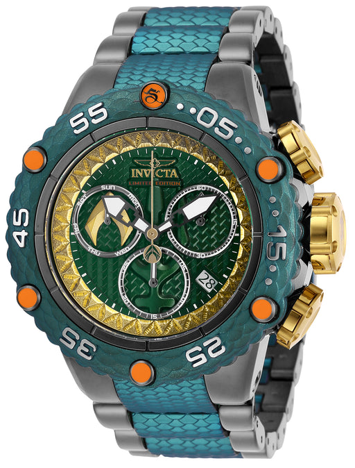 Invicta Men's 26783 DC Comics Quartz Chronograph Green, Gold Dial Watch