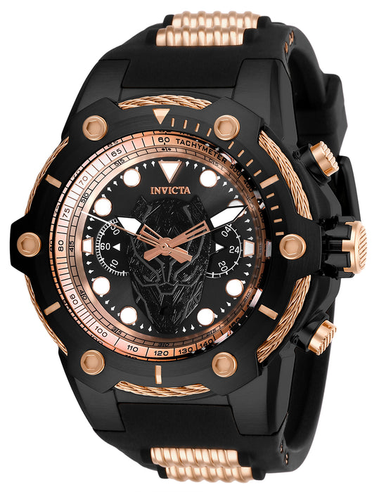 Invicta Men's 26922 Marvel Quartz Chronograph Black, Rose Gold Dial Watch