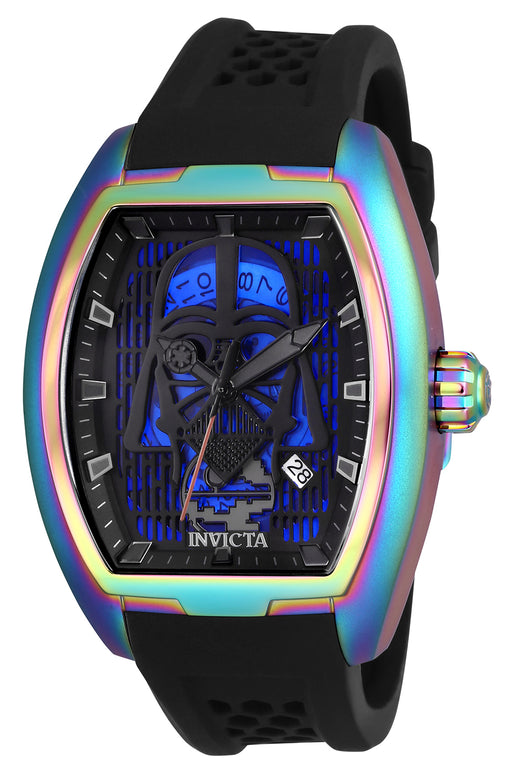 Invicta Men's 26943 Star Wars Automatic 3 Hand Black, Blue, Gunmetal Dial Watch