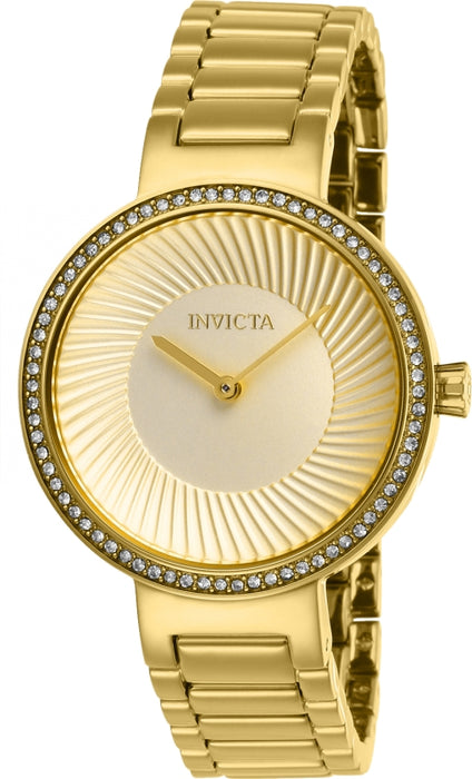 Invicta Women's 27001 Specialty Quartz 2 Hand Gold Dial Watch