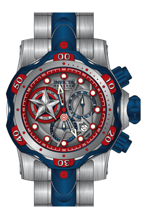 Invicta Men's 27039 Marvel Quartz Chronograph Silver, Red Dial Watch