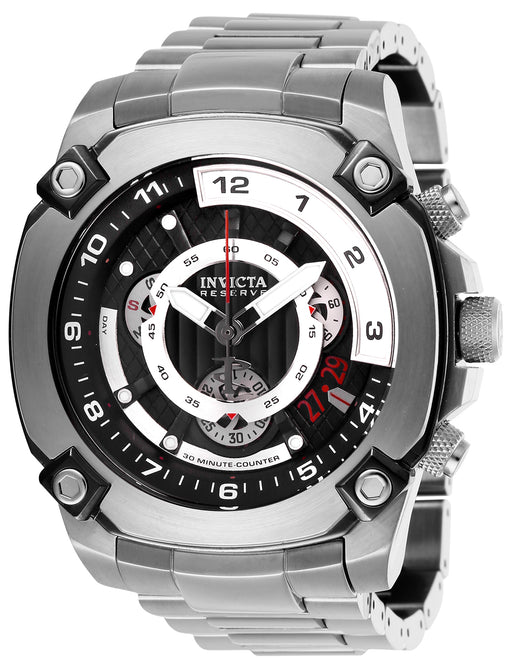Invicta Men's 27049 Reserve Quartz 3 Hand Black Dial Watch