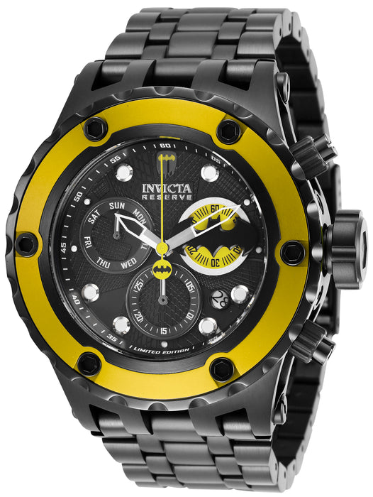 Invicta Men's 27098 DC Comics Quartz Chronograph Black, Yellow Dial Watch
