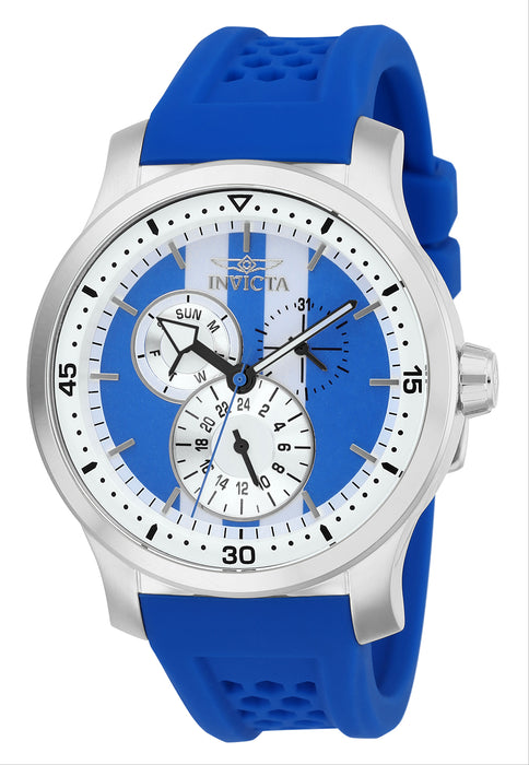 Invicta Men's 27119 S1 Rally Quartz Multifunction Blue, White Dial Watch
