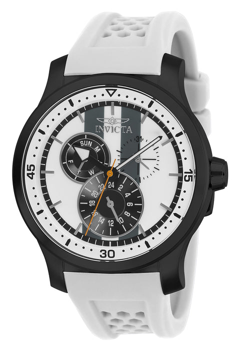 Invicta Men's 27126 S1 Rally Quartz Multifunction White, Charcoal Dial Watch