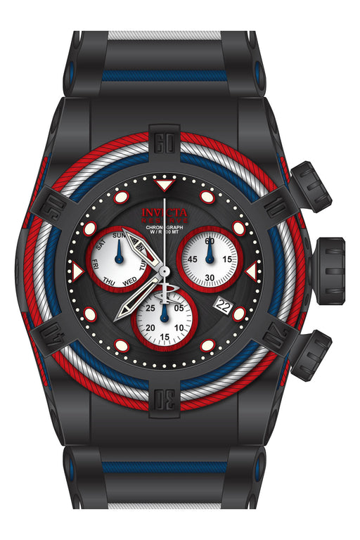 Invicta Men's 27145 Bolt Quartz Chronograph Black, White, Red Dial Watch
